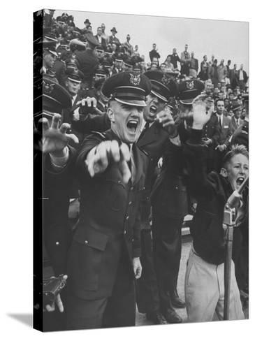 Air Force Academy Cadets Cheering During Game-Leonard Mccombe-Stretched Canvas Print