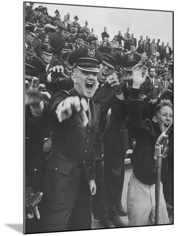 Air Force Academy Cadets Cheering During Game-Leonard Mccombe-Mounted Photographic Print