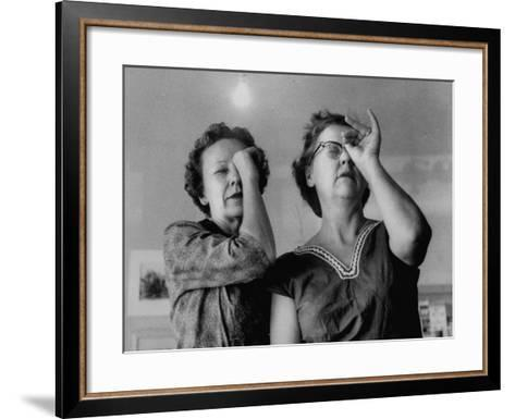 Small Town Folks, Amused Women, at Exhibit of Paintings of Lady Artists of the Town-Grey Villet-Framed Art Print