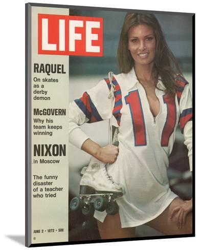 Raquel Welch in Roller Derby Uniform, June 2, 1972-Bill Eppridge-Mounted Photographic Print