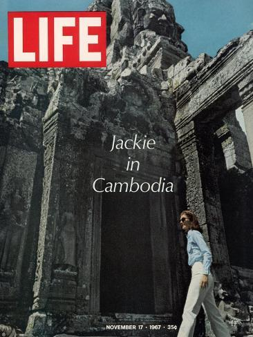Jacqueline Kennedy in Cambodia, November 17, 1967-Larry Burrows-Stretched Canvas Print