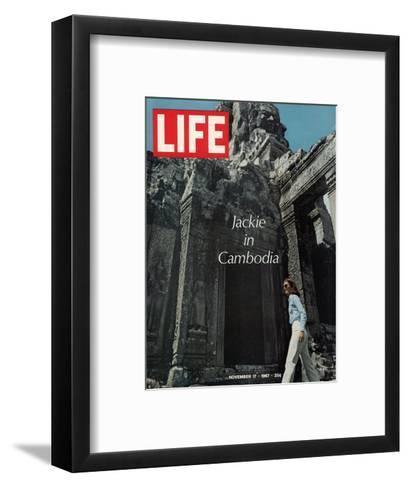 Jacqueline Kennedy in Cambodia, November 17, 1967-Larry Burrows-Framed Art Print