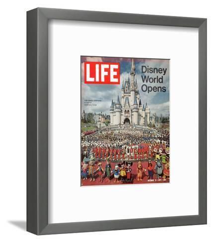 Disney World Opens, October 15, 1971-Yale Joel-Framed Art Print