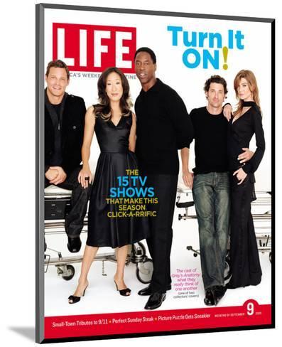 Grey's Anatomy Cast: J. Chambers, S. Oh, I. Washington, P. Dempsey and E. Pompeo, September 9, 2005-Art Streiber-Mounted Photographic Print