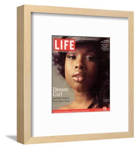 Portrait of Academy Award Nominee Jennifer Hudson, February 16, 2007-Peggy Sirota-Framed Art Print