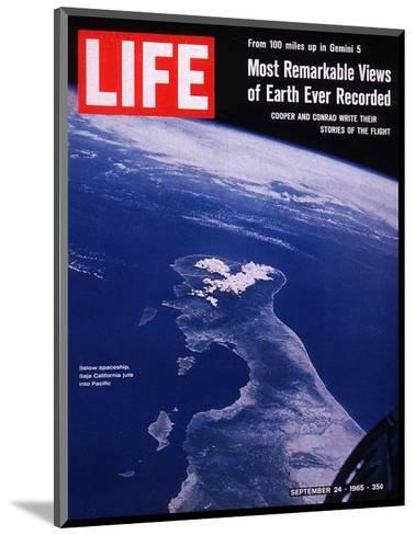 Earth from Gemini V Spaceship, September 24, 1965--Mounted Photographic Print