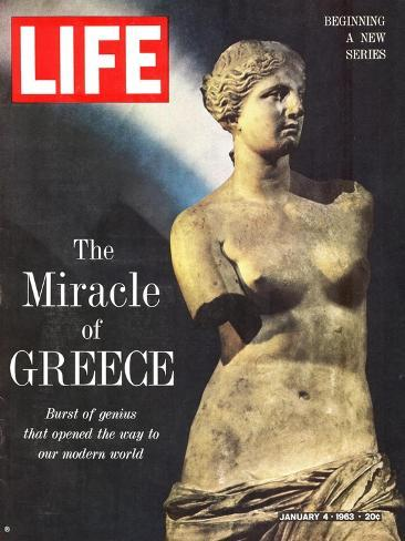 The Miracle of Greece, Statue of Aphrodite, January 4, 1963-Gjon Mili-Stretched Canvas Print