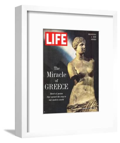 The Miracle of Greece, Statue of Aphrodite, January 4, 1963-Gjon Mili-Framed Art Print