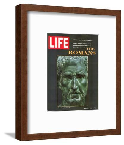 The Romans, Bust of a Roman Citizen from the Museo Nazionale in Naples, March 4, 1966-Gjon Mili-Framed Art Print