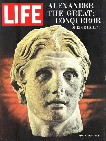 Bust of Alexander the Great, May 3, 1963-Dmitri Kessel-Stretched Canvas Print