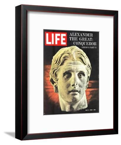 Bust of Alexander the Great, May 3, 1963-Dmitri Kessel-Framed Art Print