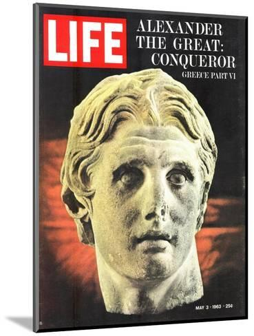 Bust of Alexander the Great, May 3, 1963-Dmitri Kessel-Mounted Photographic Print
