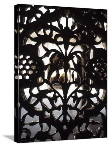 Ornate Detail of a Wrought Iron Gate in India--Stretched Canvas Print