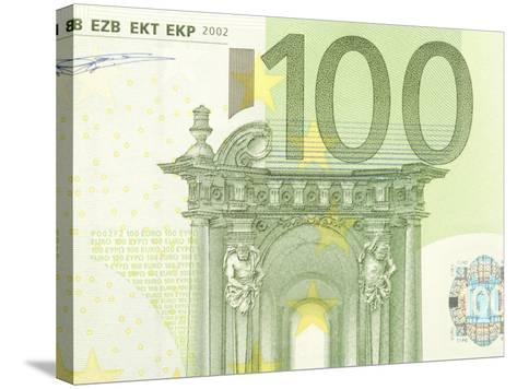 Detail of a Traditional One Hundred Euro Banknote--Stretched Canvas Print