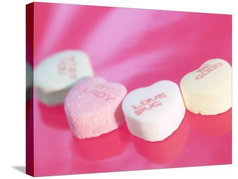Heart Shaped Candies with Love Messages--Stretched Canvas Print