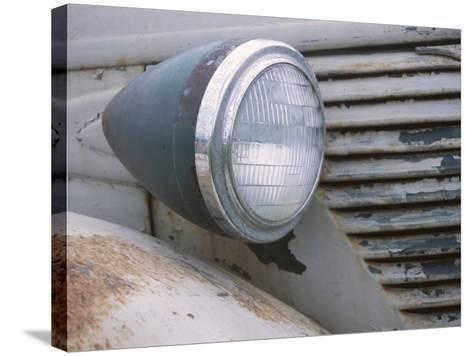 Close-Up of a Headlight on an Old Rusty Vintage Car--Stretched Canvas Print