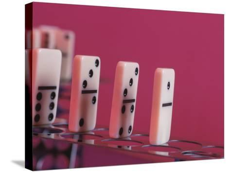 Studio Shot of a Game of Dominos--Stretched Canvas Print