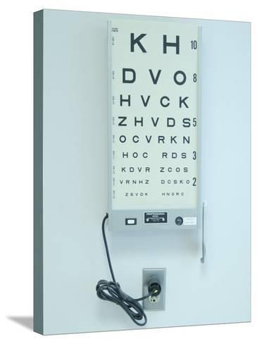 Optometrist's Eyesight Test Chart--Stretched Canvas Print