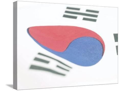 Close-Up of Blue and Red Yin-Yang Symbol on South Korean Flag--Stretched Canvas Print