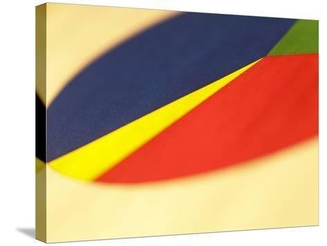 Selective Focus of Colorful Company Pie Chart--Stretched Canvas Print