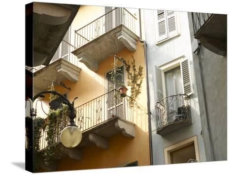 Building Balcony with Green Creeping Vines--Stretched Canvas Print