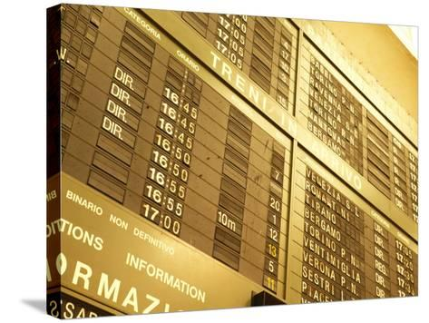Electronic Italian Train Schedule--Stretched Canvas Print