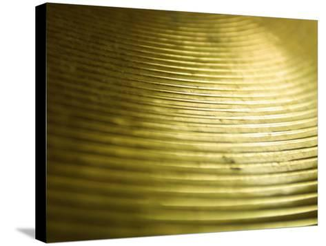 Close-Up of Glistening Metal Disk--Stretched Canvas Print