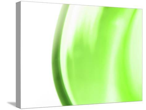 Abstract Motion Blurred Green Background--Stretched Canvas Print