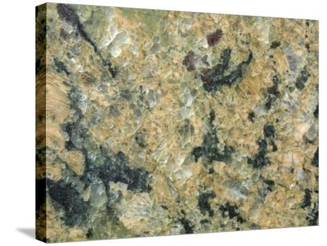Close-Up of Mottled and Smooth Marble--Stretched Canvas Print