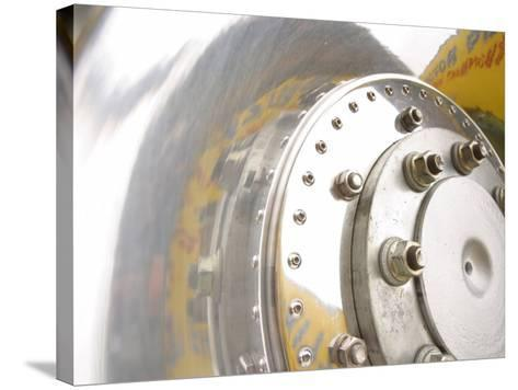 Close-Up of Shiny Chrome Wheel--Stretched Canvas Print