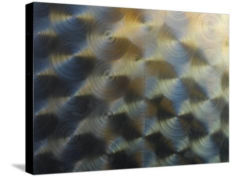 Close-Up of Shiny Metal Creating a Circular Pattern--Stretched Canvas Print