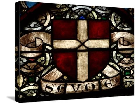 Close-Up of Ornate and Colorful Stained Glass in Switzerland--Stretched Canvas Print