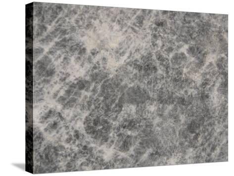 Close-Up of a Grey Marble Surface--Stretched Canvas Print