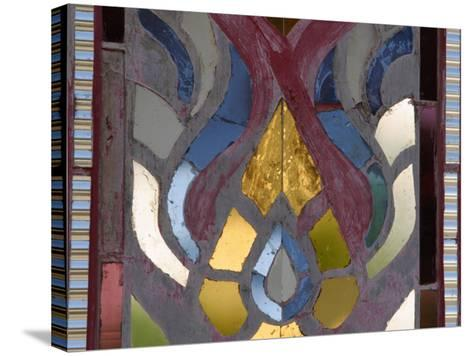 Close-Up of a Stained Glass Artwork, Thailand--Stretched Canvas Print