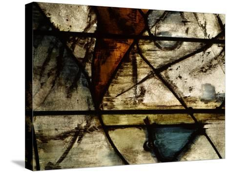 Close-Up of Abstract Pattern in Stained Glass--Stretched Canvas Print