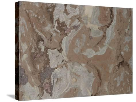 Close-Up of a Mottled Marble Surface--Stretched Canvas Print