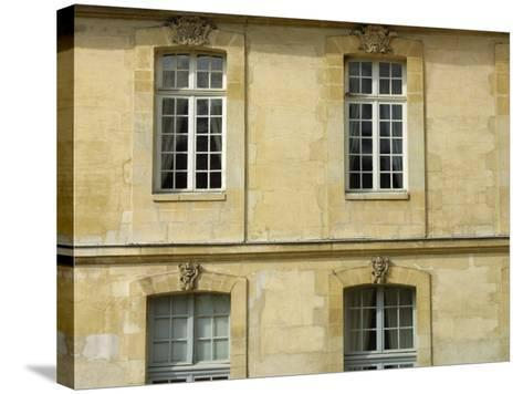 Exterior of Historical Building and Windows--Stretched Canvas Print