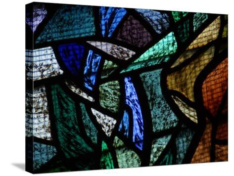 Ornately and Elaborately Decorative Stained Glass Windows of Cathedral--Stretched Canvas Print