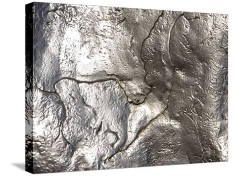 Texture of Shiny Metal Surface--Stretched Canvas Print