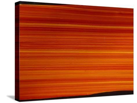 Striated Orange Background--Stretched Canvas Print