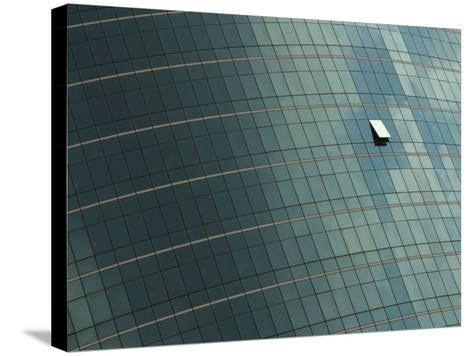 Open Window on the Side of a Modern Glass Building, Asia--Stretched Canvas Print