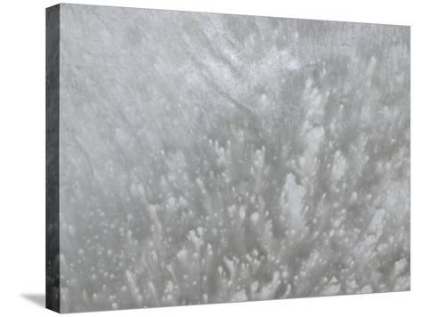 Explosive Splatter Pattern in Gray--Stretched Canvas Print