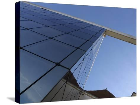 View of Contemporary Glass High Rise Building in France--Stretched Canvas Print