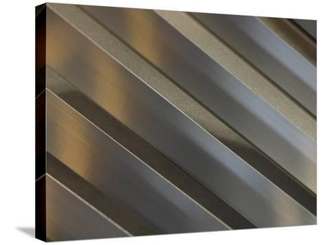 Shiny Corrugated Metal--Stretched Canvas Print