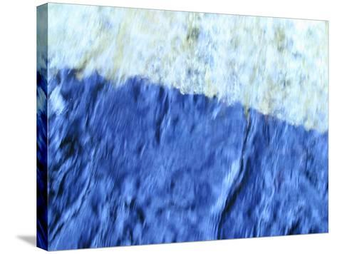 Soft Focused Shaded Blues Textured Background--Stretched Canvas Print