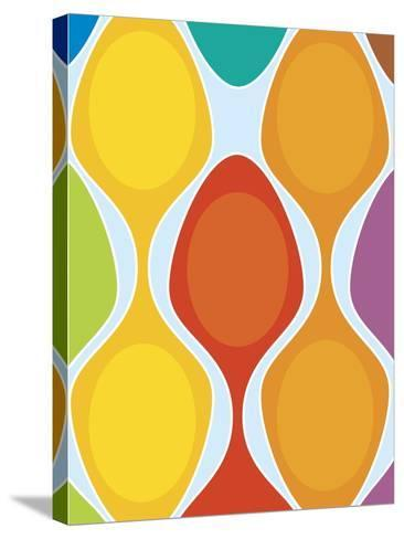 Colorful Retro Pattern--Stretched Canvas Print