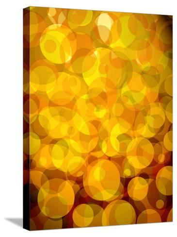 Retro Abstract Pattern of Bubbles--Stretched Canvas Print