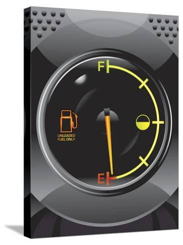Gas Gauge on Empty--Stretched Canvas Print