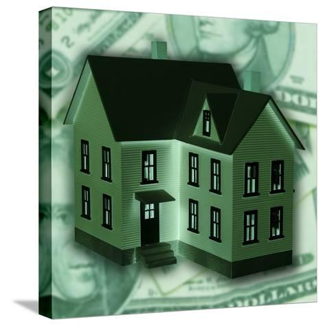 Money Behind House--Stretched Canvas Print