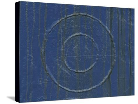 Welded Circles on a Streaked and Painted Surface--Stretched Canvas Print